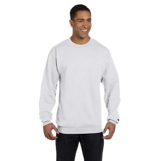 Men's Silver Grey Cotton/Polyester Big and Tall Crewneck Sweater