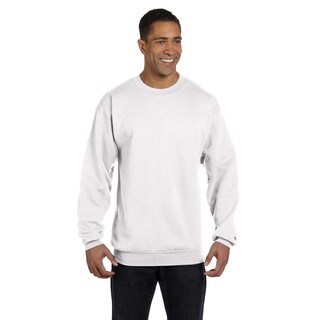 Men's White Big and Tall Crew-Neck Sweater