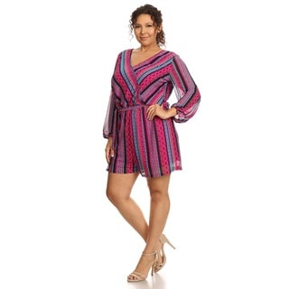 Hadari Women's Plus Size Long Sleeve Romper