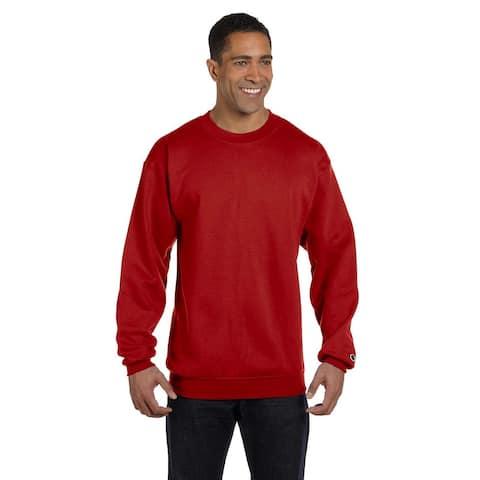 Champion Men's Scarlet Big and Tall Crewneck Sweater