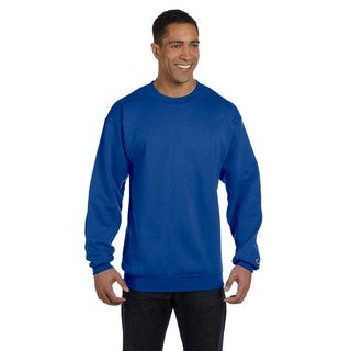 Champion Men's Royal Blue Cotton/Polyester Big and Tall Crewneck Sweater