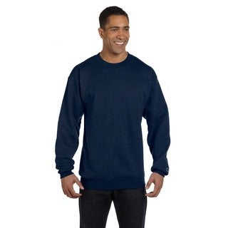 Men's Navy Heather Cotton/Polyester Big and Tall Crewneck Sweater