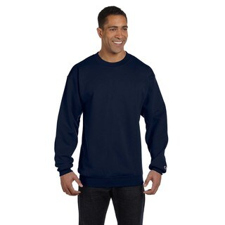 Men's Big and Tall Navy Cotton/Polyester Crew-neck Sweater
