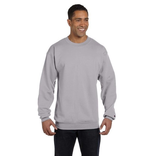 Champion Mens Light Steel Cotton/Polyester Big and Tall Crewneck Sweater