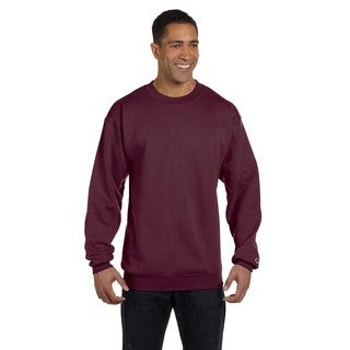 Champion Men's Maroon Cotton/Polyester Big and Tall Crewneck Sweater