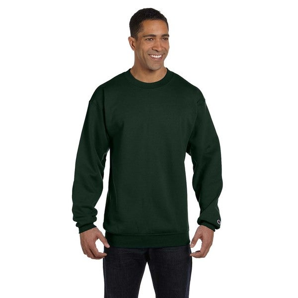 091467696563 Shop Men's Dark Green Cotton/Polyester Big and Tall Crew-neck Sweater -  Free Shipping On Orders Over $45 - Overstock - 12449143
