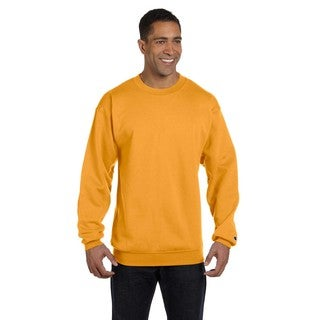 Champion Men's Gold Cotton/Polyester Big and Tall Crewneck Sweater