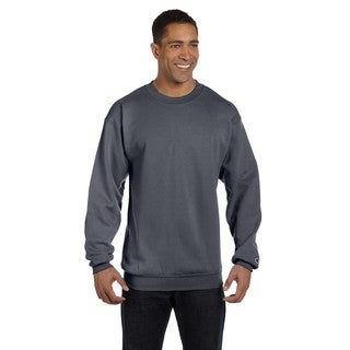 Champion Men's Charcoal Heather Cotton/Polyester Big and Tall Crewneck Sweater