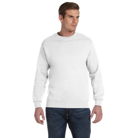 Gildan Men's C\White Cotton/Polyester Fleece Big and Tall Crewneck Sweater