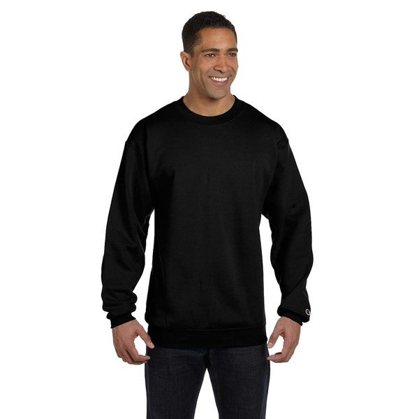 Champion Mens Black Cotton/Polyester Big and Tall Crewneck Sweater