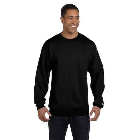 Champion Men's Black Cotton/Polyester Big and Tall Crewneck Sweater