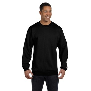 Champion Men's Black Cotton/Polyester Big and Tall Crewneck Sweater