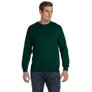 Gildan Men's Forest Green 50/50 Fleece Big and Tall Crewneck Sweater