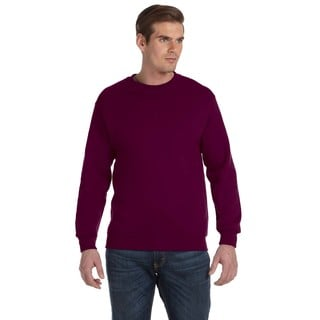 Men's Maroon 50/50 Fleece Big and Tall Crew-neck Sweater
