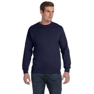 Men's Big and Tall Navy 50/50 Fleece Crew-neck Sweater