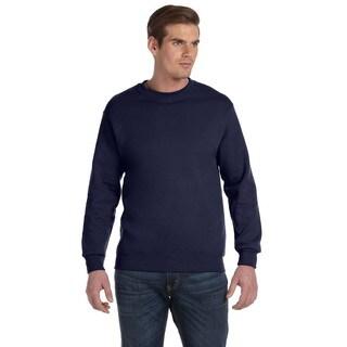 Men's Big and Tall Navy 50/50 Fleece Crew-neck Sweater