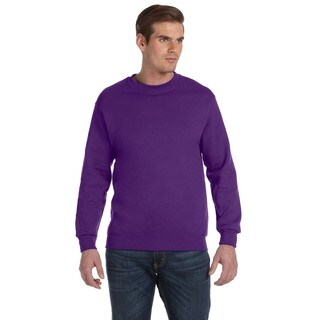 Gildan Men's Purple 50/50 Fleece Big and Tall Crewneck Sweater