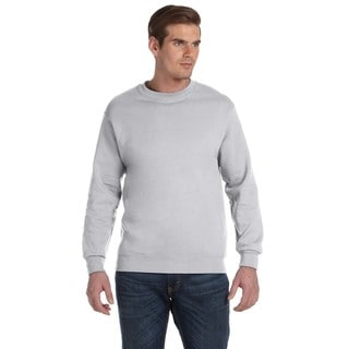 Gildan Men's Ash Grey Cotton/Polyester Fleece Big andTall Crewneck Sweater