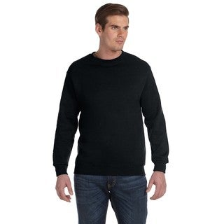 Gildan Men's Black 50/50 Fleece Big and Tall Crewneck Sweater