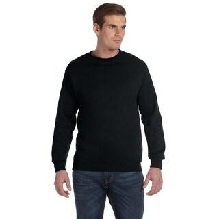 Gildan Men's Black 50/50 Fleece Big and Tall Crewneck Sweater