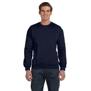 Men's Big and Tall Navy Fleece Crew-neck Sweater