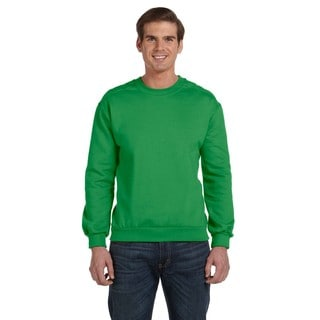Men's Big and Tall Green Apple Fleece Crewneck Sweater