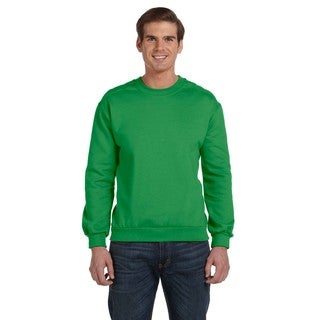 Men's Big and Tall Green Apple Fleece Crewneck Sweater