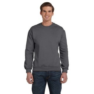 Men's Charcoal Fleece Big and Tall Crewneck Sweater