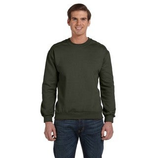 Men's Big and Tall City Green Fleece Crew-Neck Sweater