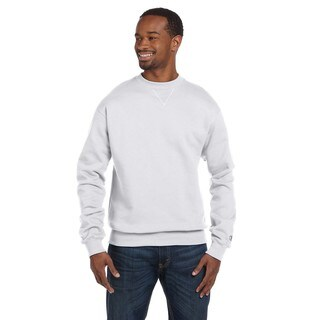 Champion Men's White Heather Cotton/Polyester Big and Tall Crewneck Sweater