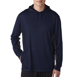 Cool & Dry Sport Men's Navy/Charcoal Big and Tall Hooded Pullover Sweater