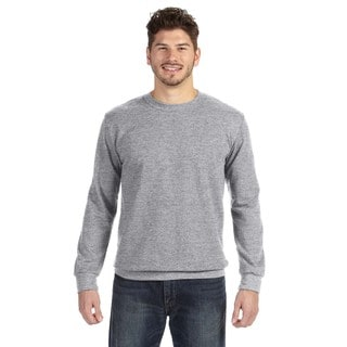 Men's Big and Tall Grey Polyester/Cotton Crewneck Sweatshirt