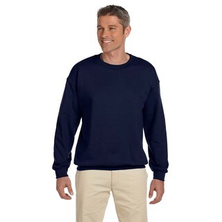 Hanes Men's Navy 90/10 Fleece Big and Tall Crew-neck Sweater