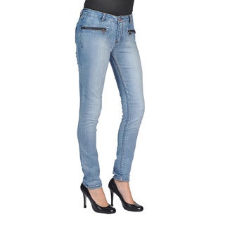 C'est Toi Skinny Denim Light Wash Jeans (Option: 11)