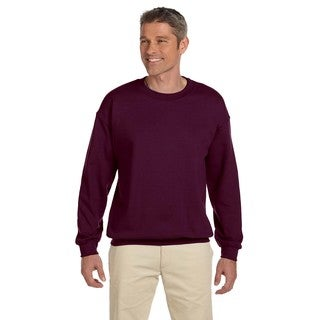 Hanes Men's Ultimate Cotton Big and Tall Maroon 90/10 Fleece Crewneck Sweater