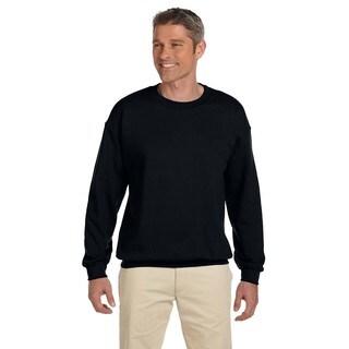Hanes Men's Ultimate Cotton Black Cotton/Polyester Fleece Big and Tall Crewneck Sweater