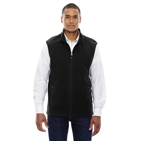 Voyage Men's Black Fleece Big and Tall Vest