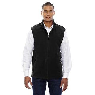 Voyage Men's Black Fleece Big and Tall Vest