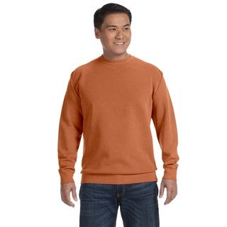 Men's Yam Garment-dyed Fleece Big and Tall Crew-neck Sweater