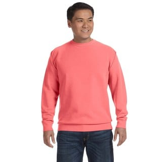 Men's Big and Tall Watermelon Garment-dyed Fleece Crew-neck Sweater