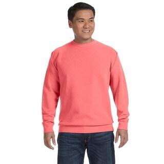 Men's Big and Tall Watermelon Garment-dyed Fleece Crew-neck Sweater