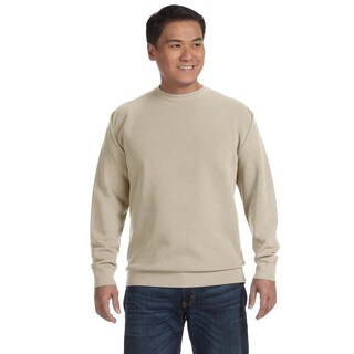 Men's Sandstone Garment-dyed Fleece Big and Tall Crewneck Sweater