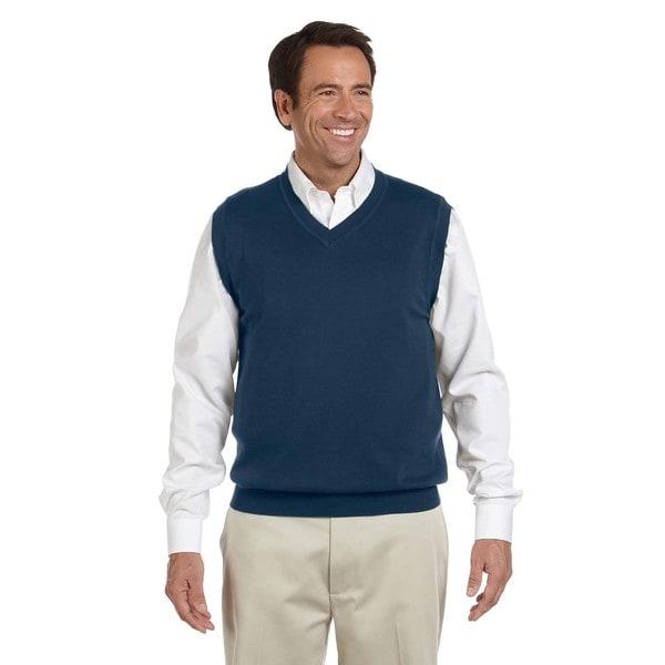 Mens Navy Big and Tall V-neck Vest