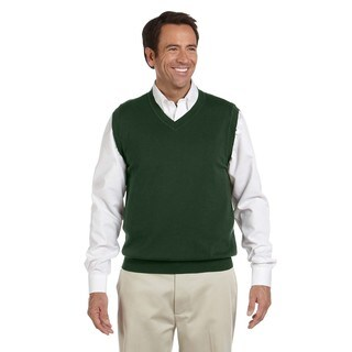 Men's Forest Green Cotton V-neck Big and Tall Vest