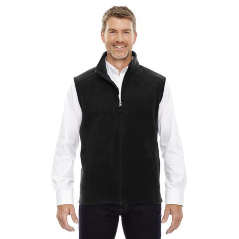 Journey Men's Black Fleece Big and Tall Vest