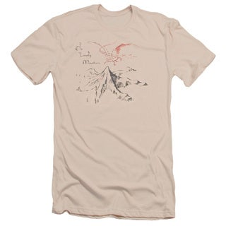 The Hobbit/Lonely Mountain Short Sleeve Adult T-Shirt 30/1 in Cream