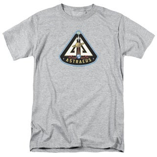 Eureka/Astraeus Mission Patch Short Sleeve Adult T-Shirt 18/1 in Silver