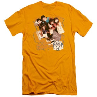 Saved By The Bell/It's All Right Short Sleeve Adult T-Shirt 30/1 in Gold