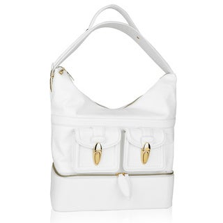 Sharon Gioe di Toscana White Leather Bucket Handbag