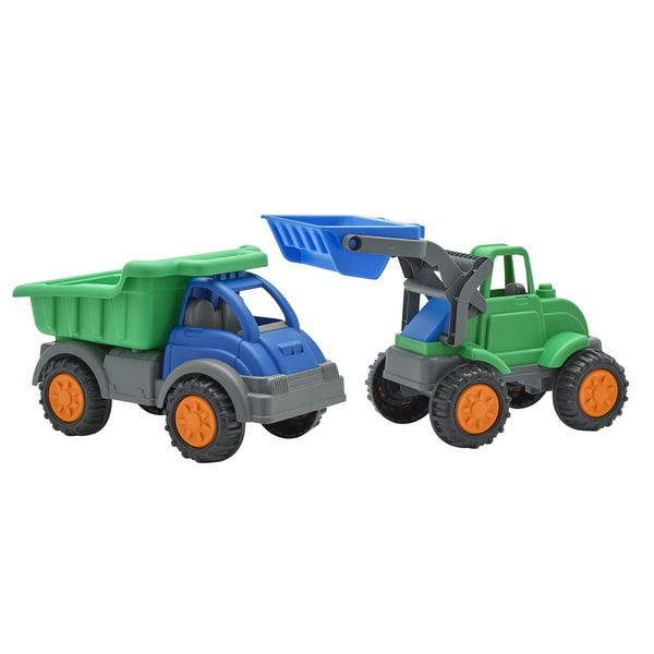 American Plastic Toys Gigantic Dump Truck and Loader
